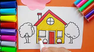 Learning How To Draw A House for Kids