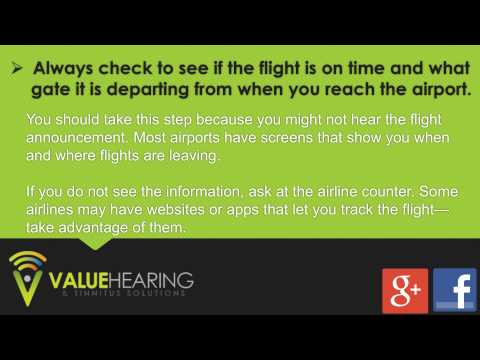 Flying with Hearing Loss - Tips for Air Travel