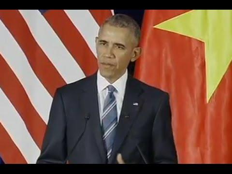 Obama Vietnam presser