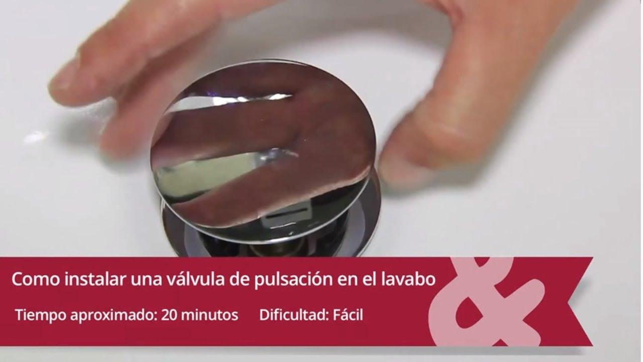 C mo instalar una v lvula de pulsaci n en el lavabo youtube - Como cambiar un lavabo ...
