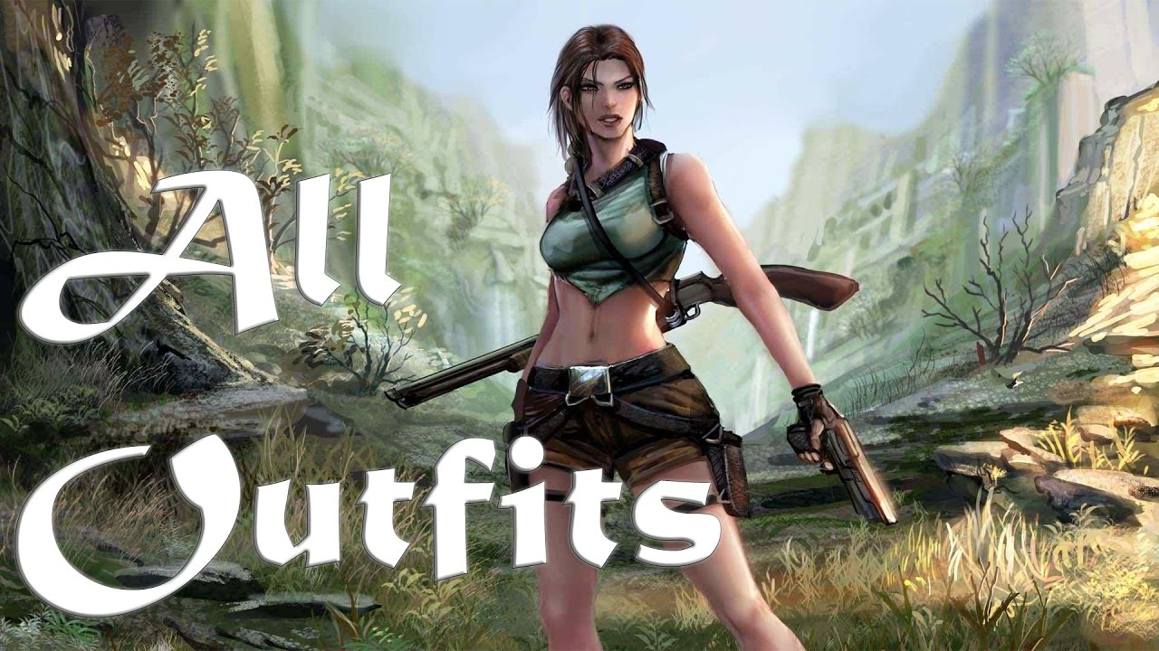Lara croft tomb raider anniversary all outfits costumes ps