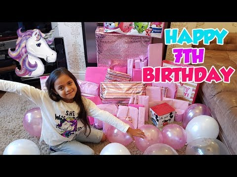 TIANNA'S 7th BIRTHDAY UNBOXING!! BIRTHDAY MORNING OPENING!!