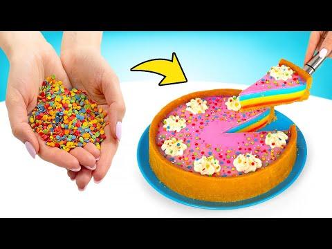 Cooking No Bake Rainbow Cheesecake 🌈🎂
