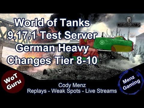 World of Tanks 9.17.1 Test Server: German Heavy Tank Changes