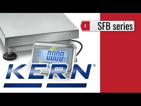 KERN SFB: Stainless steel platform scales (product video presentation)