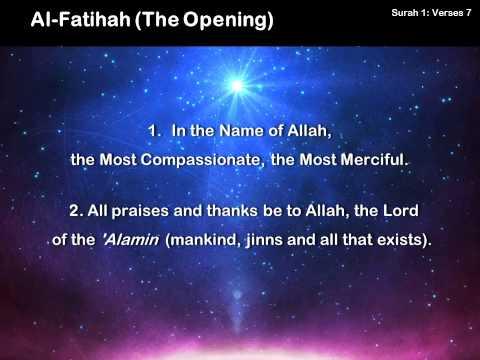 001 Al-Fatihah (The Opening)