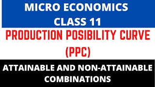 7 | ATTAINABLE AND NON-ATTAINABLE COMBINATIONS IN PPC FOR CLASS 11 AND 12TH -MICROECONOMICS