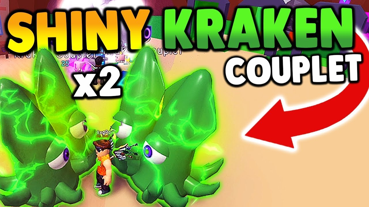 😱2 SHINY KRAKEN COUPLET IN ROBLOX BUBBLE GUM SIMULATOR 15