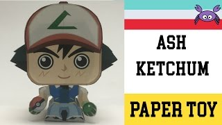How to Make a Ash Ketchum Paper Toy ( Papercraft ) (free template) by Becks Junkie