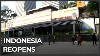 Traffic jams are on the way back in indonesia's capital as jakarta starts reopening after weeks of lockdown.but healthcare workers worry relaxation re...