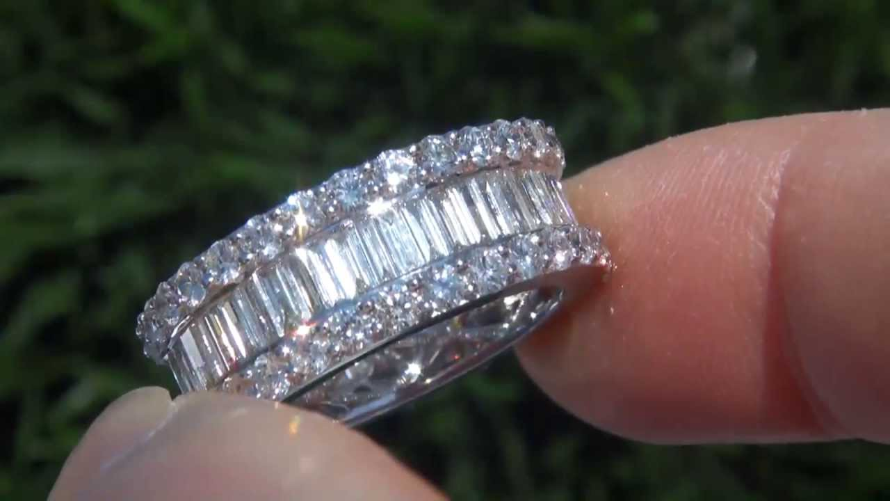 cushion ct bands platinum diamond whitegold band ring cut carat wedding t w carats d topleftview eternity