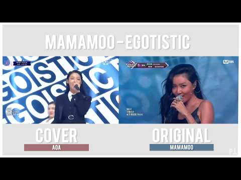 MAMAMOO  - Egotistic Comparison (Original VS AOA Queendom Cover)