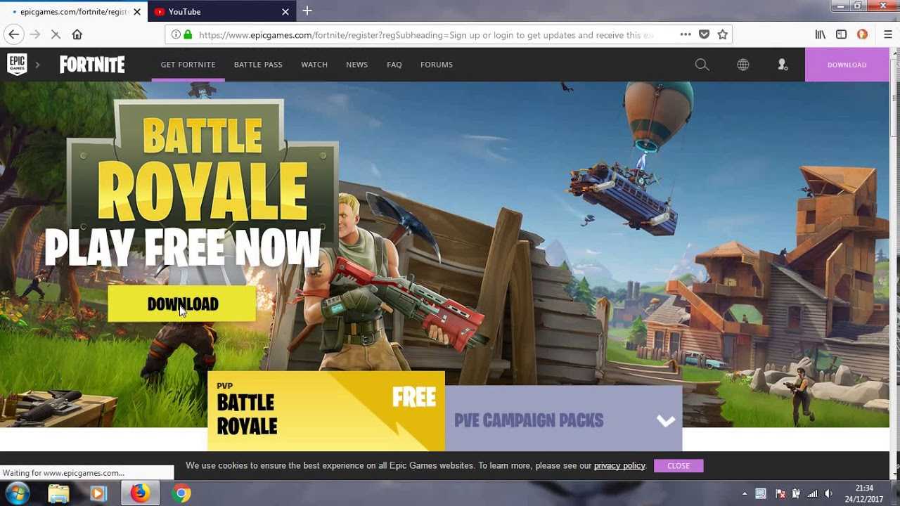 how to install fortnite on pc for free - YouTube