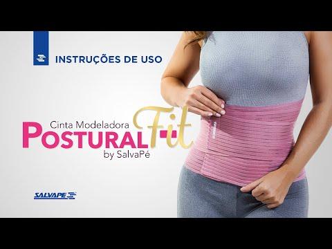 Vídeo do produto Cinta Modelador Postural Fit Estreita Salvapé  REF. 166