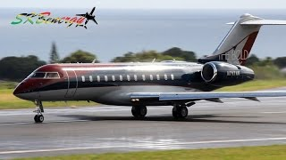 global express bd 700 double departure st kitts robert l bradshaw int l airport