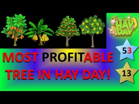 HAY DAY - MOST PROFITABLE TREE TO GROW IN HAY DAY 2018! APPLE, ORANGE, LEMON, OLIVE, CACAO, PEACH...