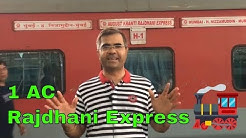 Rajdhani Express AC First Class Full Review in Hindi | Mumbai to Bharuch