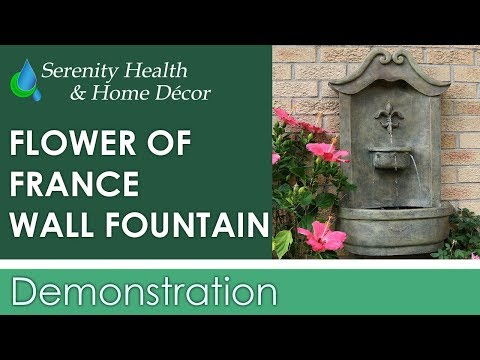 Sunnydaze Flower of France Outdoor Wall Water Fountain