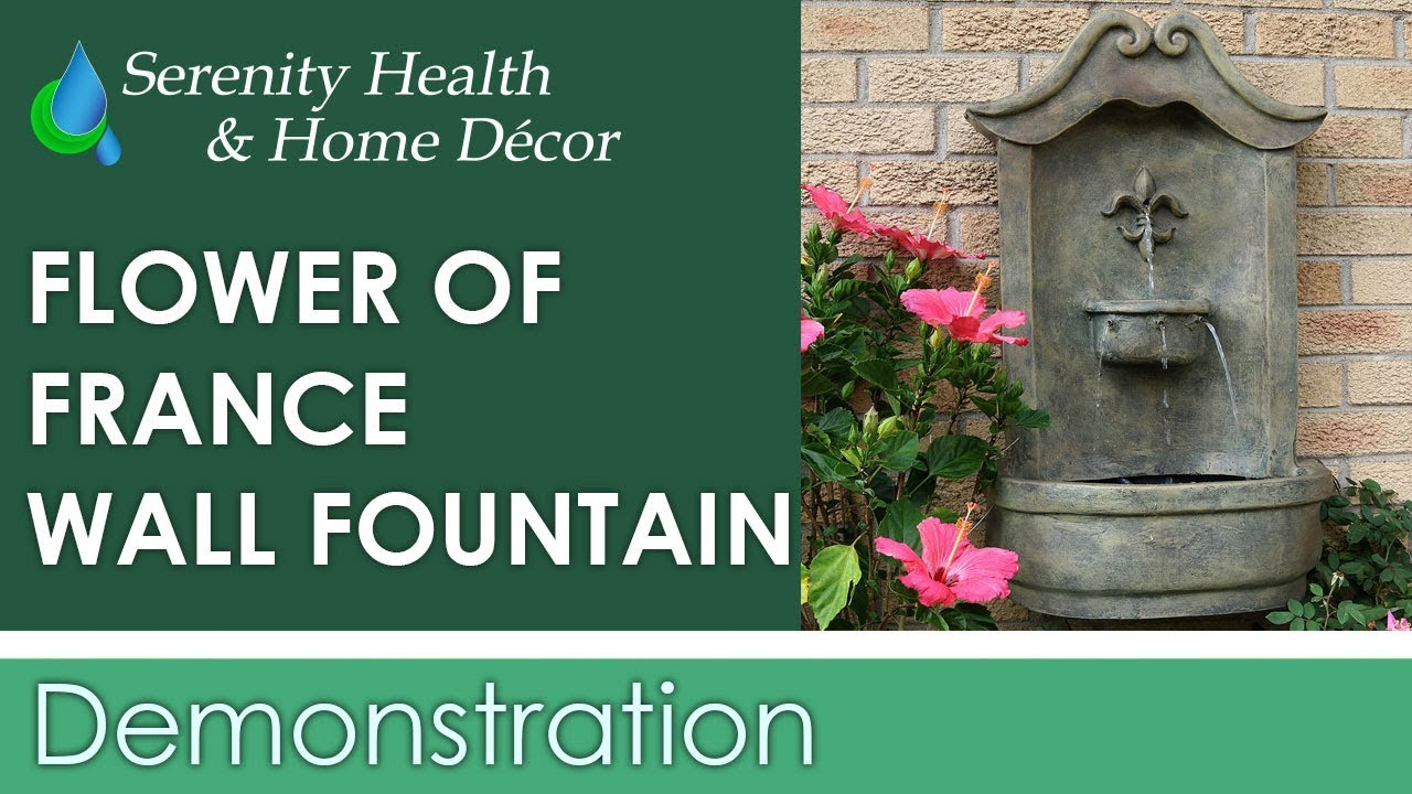 Sunnydaze Flower Of France Outdoor Wall Water Fountain Serenity Health Home Decor