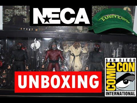 SDCC 2019 NECA TMNT Movie Action Figures The Capture of Splinter Review - Shredder Foot Ninja