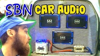 DRUNK Trunk & Cool BASS Installs w/ Walled Off BOSS & SUNDOWN Zv3 Subwoofers | SBN Car Audio 2013