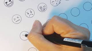 easy to draw emotion faces emoji skype yahoo facebook zalo