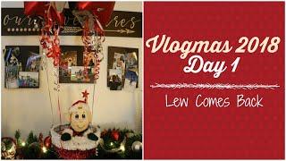 Vlogmas Day 1 | Lew - Elf on the Shelf Arrives | Vlogmas 2018
