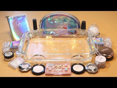 "Mixing ""Hologram"" Makeup,clay,slime,glitter... Into Clear Slime! ""Hologramslime"" thumbnail"