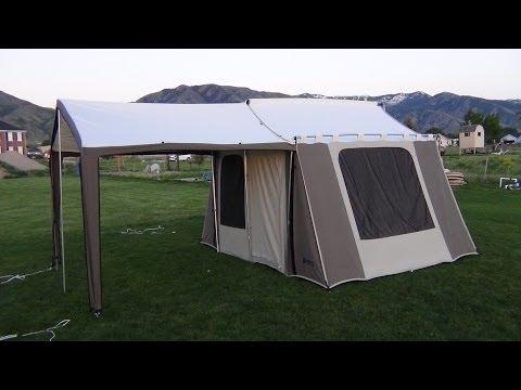 755 & Trek Tents 245c 9 x 12 Canvas Wall Tent - YouTube