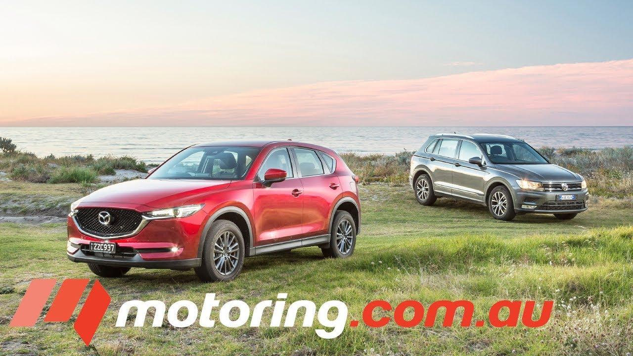 2017 Volkswagen Tiguan v Mazda CX-5 Comparison | motoring.com.au - Dauer: 2 Minuten, 12 Sekunden