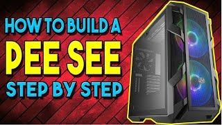 Step By Step Guide To Build A Computer - Assembling PC Parts Into Case  - Pt 18