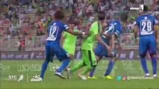 هدف الاهلي الأول  ضد الهلال  (عمر السومة) في الجولة 10 من دوري جميل