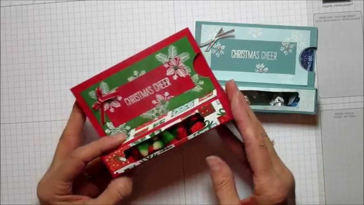 christmas cheer treat gift card box  youtube