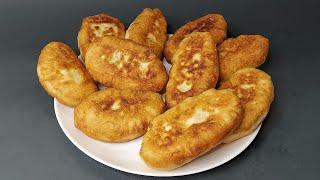Пирожки БЕЗ ДРОЖЖЕЙ на кефире с картошкой Когда много начинки