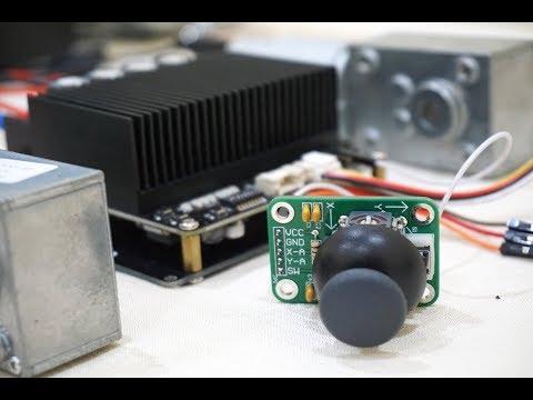 Controlling SmartDriveDuo-30 MDDS30 using Analog Joystick with Analog Mixed Mode