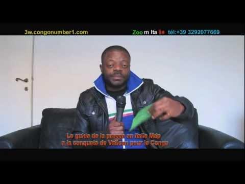 ZOOM ITALIA DE CHRISTOPHE MANDANGI DEVANT VATICAN POUR LE CONGO.