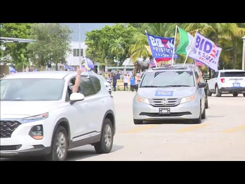 Voters for Biden gather for show of support in Southwest Miami-Dade
