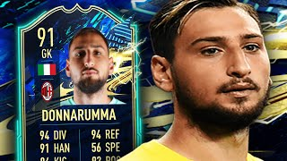 ONE CLUB HERO 🔴⚫  91 TOTS DONNARUMMA PLAYER REVIEW - FIFA 21 ULTIMATE TEAM
