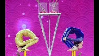 Chinese and Ukrainian contortionists perform extreme backbends | CCTV English