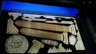 Tableau Matrimonio forex stampato a vernice con applicazioni in legno inciso con laser