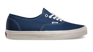 Shoe Review: Vans Authentic (Vintage) Dark Denim/Marshmellow