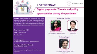Digital payments: Threats and policy opportunities during the pandemic