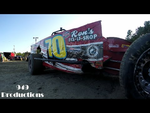949 Productions: #70 Lenny Pillsbury Modified Heat Race Bear Ridge Speedway 9/3