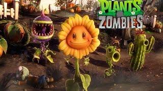 Растения против зомби Мультик игра Садовая война Plants versus Zombies