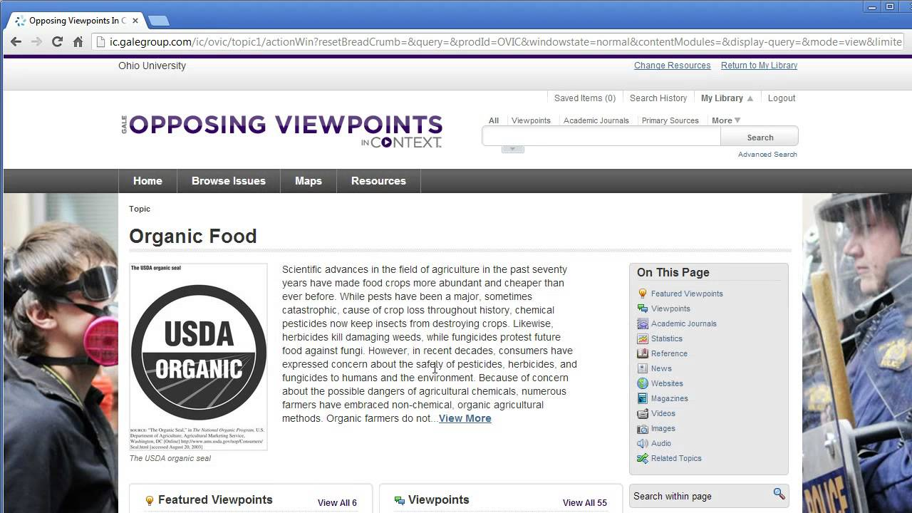 opposing viewpoints for topic exploration opposing viewpoints for topic exploration