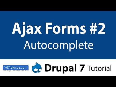 Drupal 7 - How To Create Autocomplete Ajax Form (2/2)
