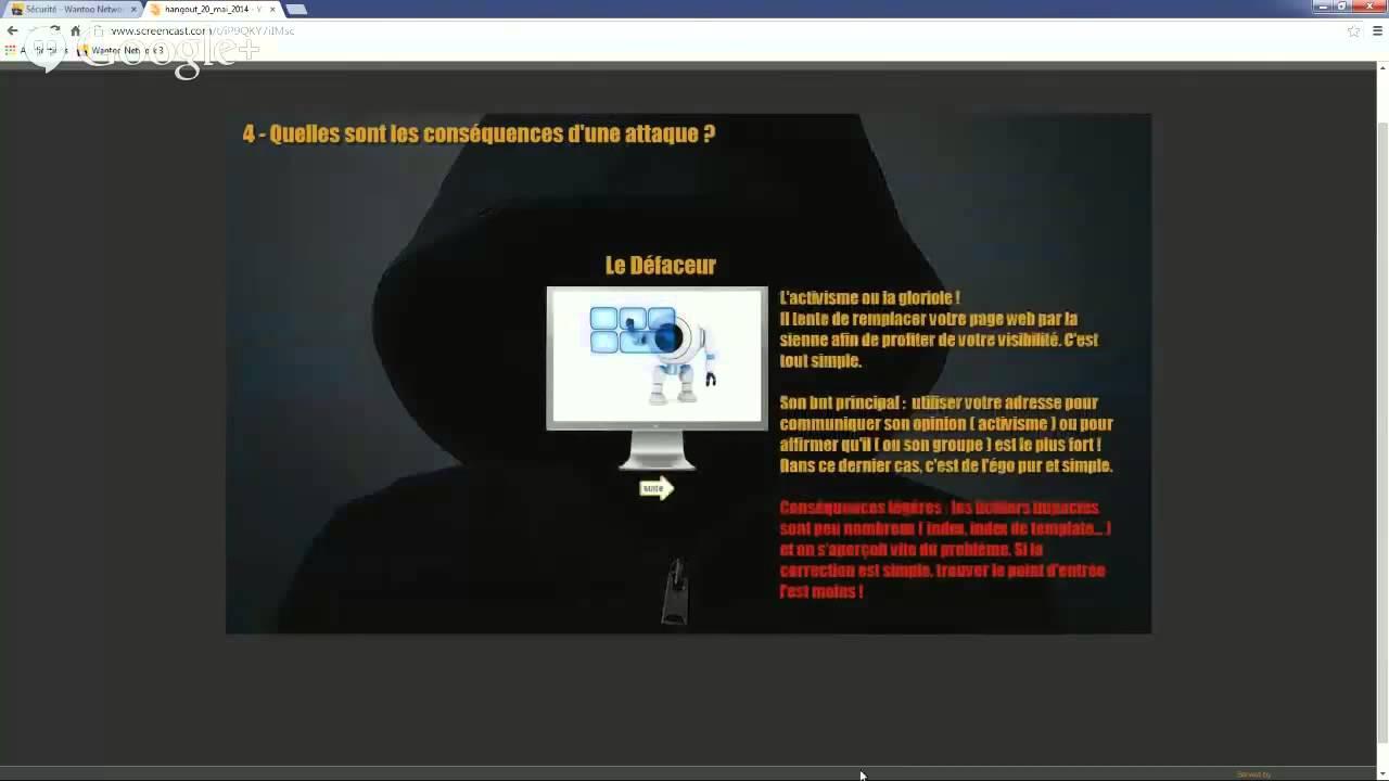 La sécurité avec le CMS Joomla! - Avis d'expert (Hangout v2)