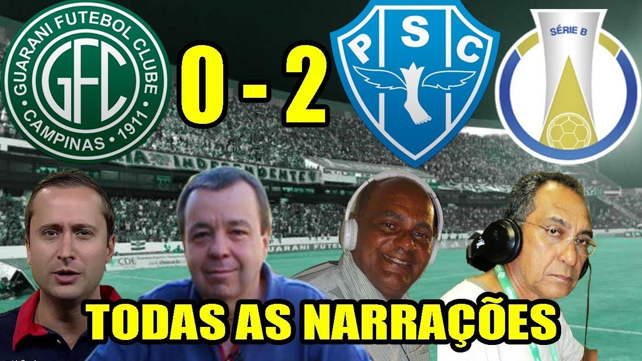 Todas as narrações - Guarani 0 x 2 Paysandu / Brasileirão Série B 2018