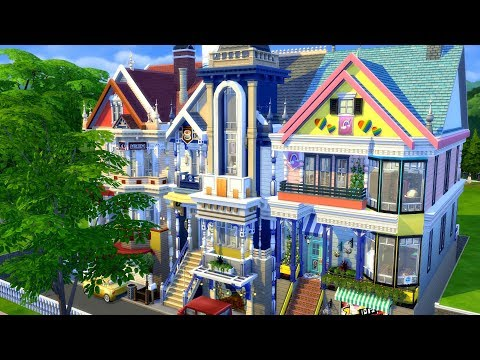 The Sims 4: Speed Build | San Fran Houses Collab |