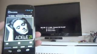 Android Smartphone DLNA media sharing to Sony HD TV (Nexus 4) - HD 1080p videos, MP3, pictures